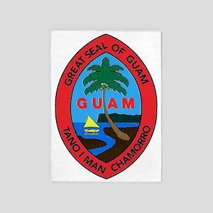 GUAM SEAL 5'x7'Area Rug