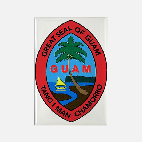 GUAM SEAL Rectangle Magnet