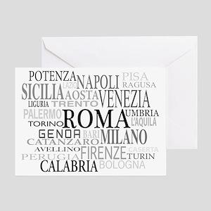 Italian Cities Greeting Card