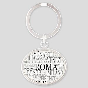 Italian Cities Oval Keychain