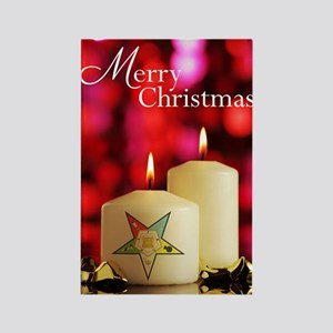 Eastern Star Christmas Card Rectangle Magnet