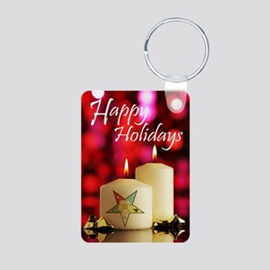 Eastern Star Holiday Card Aluminum Photo Keychain