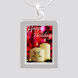 Eastern Star Holiday Car Silver Portrait Necklace
