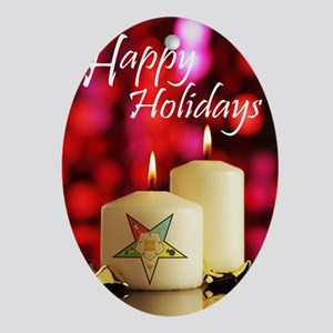 Eastern Star Holiday Card Oval Ornament