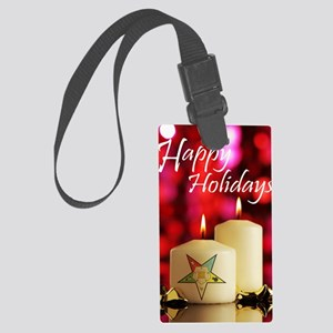 Eastern Star Holiday Card Large Luggage Tag