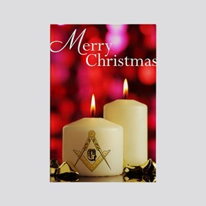 Masonic Christmas Card Rectangle Magnet