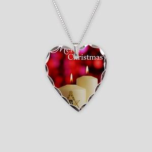 Masonic Christmas Card Necklace Heart Charm