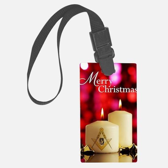 Masonic Christmas Card Luggage Tag