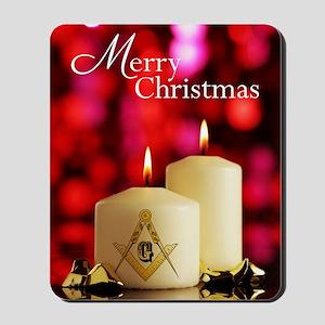 Masonic Christmas Card Mousepad