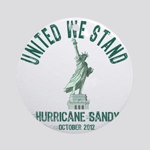 Hurricane Sandy Statue Round Ornament