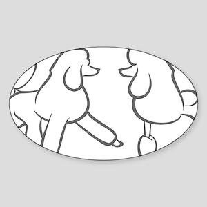 poodles of distinction Sticker (Oval)