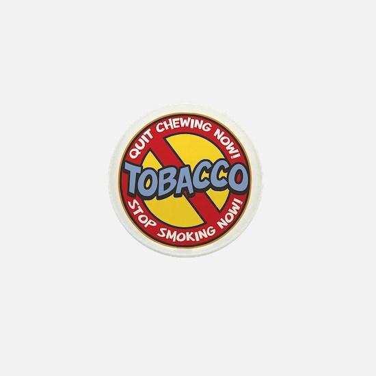 No Tobacco Mini Button
