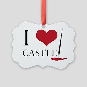 I Heart Castle Picture Ornament