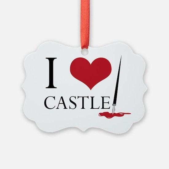 I Heart Castle Ornament