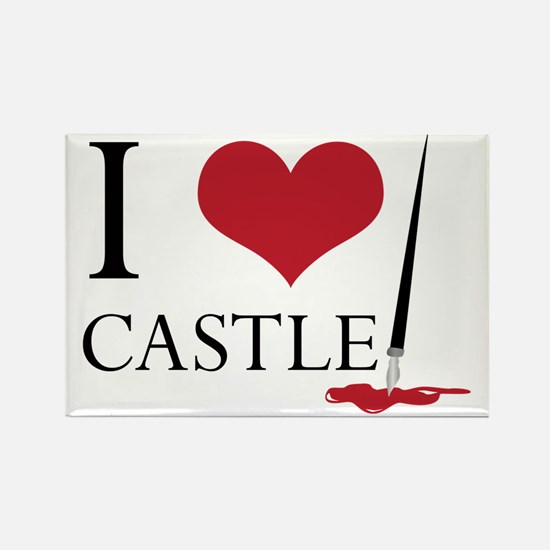 I Heart Castle Rectangle Magnet
