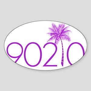 90210 Palm Tree Sticker (Oval)