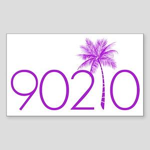 90210 Palm Tree Sticker (Rectangle)