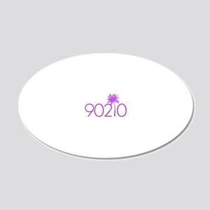 90210 Palm Tree 20x12 Oval Wall Decal