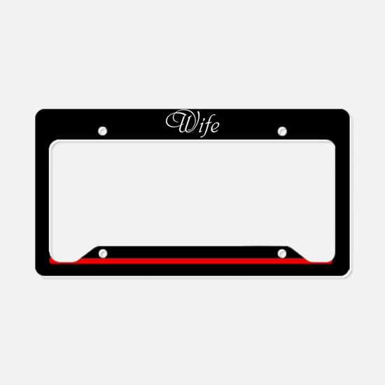 Fire And Rescue Wife License Plate Holder