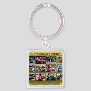 Mustangs and Mutts 2013 Calendar Square Keychain