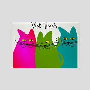 vet tech whim cats Rectangle Magnet