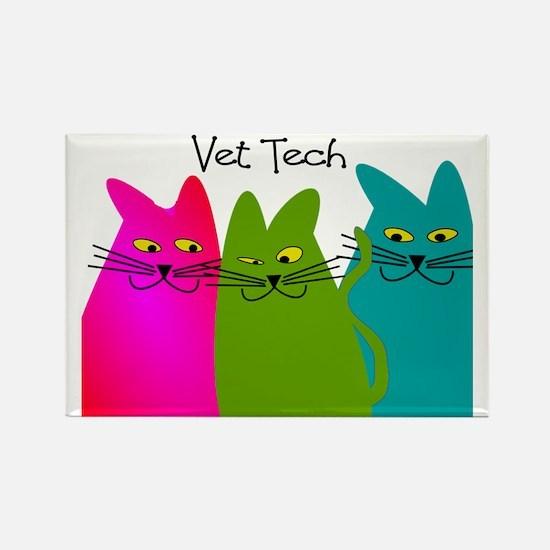 vet tech whim cats Rectangle Magnet