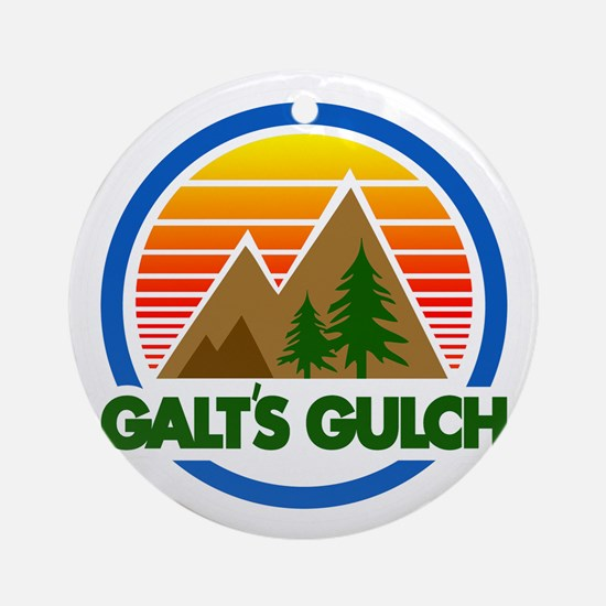 Galts Gulch Round Ornament