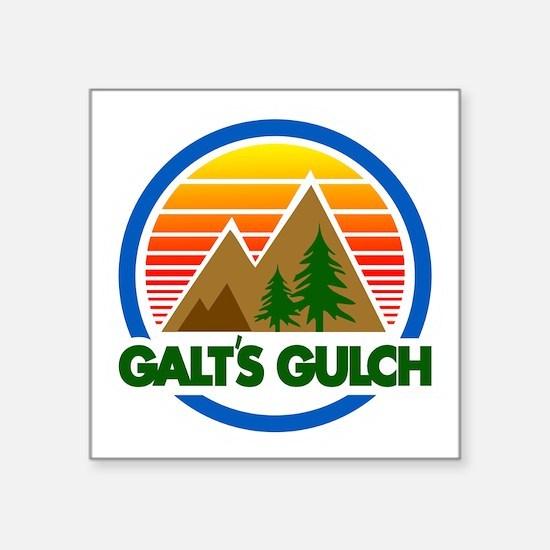 "Galts Gulch Square Sticker 3"" x 3"""
