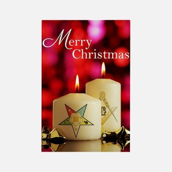 Eastern Star - Masonic Christmas  Rectangle Magnet