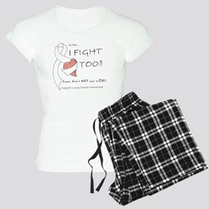 Lung Cancer Support Women's Light Pajamas