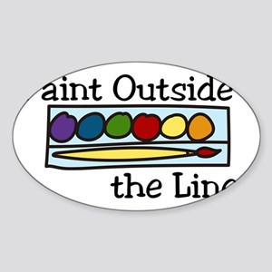 Paint Outside The Lines Sticker (Oval)