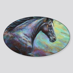 Fuji painting Sticker (Oval)