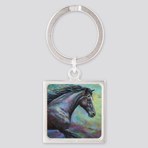 Fuji painting Square Keychain