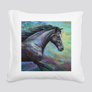 Fuji painting Square Canvas Pillow