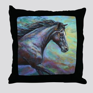Fuji painting Throw Pillow