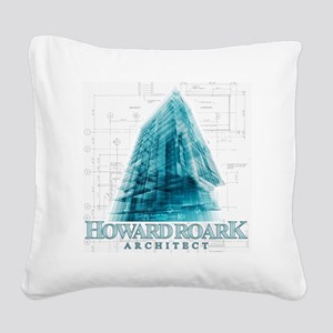 Howard Roark Architect Square Canvas Pillow
