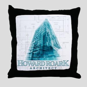 Howard Roark Architect Throw Pillow