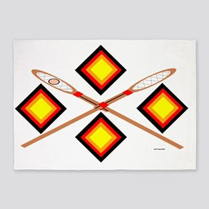SOUTHEAST TRIBAL STICKBALL 5'x7'Area Rug