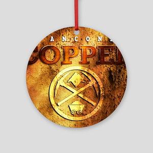 dAnconia Copper Round Ornament