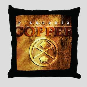 dAnconia Copper Throw Pillow