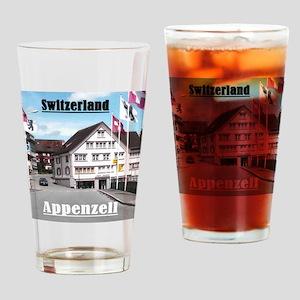 Flags of Switzerland Drinking Glass