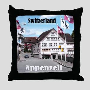 Flags of Switzerland Throw Pillow