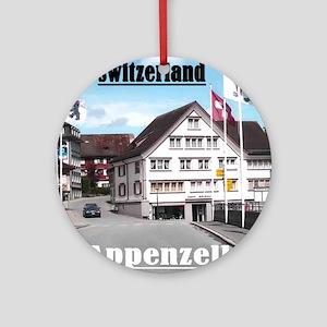 Flags of Switzerland Round Ornament
