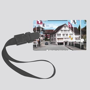 Flags of Switzerland Large Luggage Tag