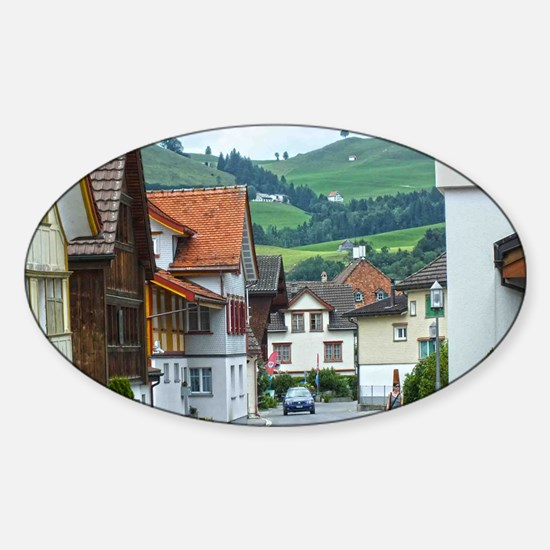 Streets of Appenzell Sticker (Oval)