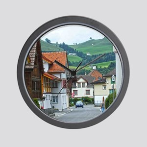 Streets of Appenzell Wall Clock