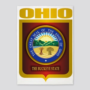 Ohio State Seal (B) 5'x7'Area Rug