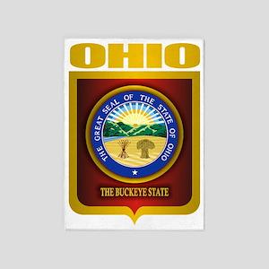 Ohio State Seal (B) 5'x7'Area Rug