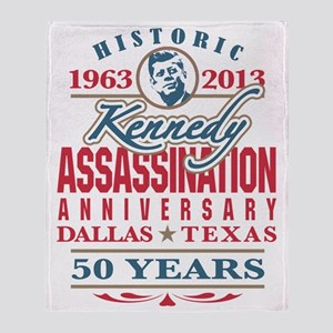 JFK Kennedy Assassination Anniversar Throw Blanket