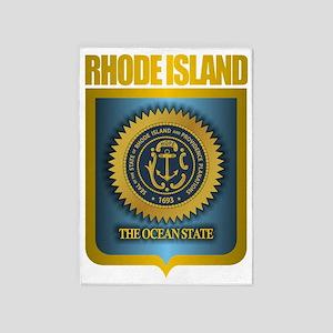Rhode Island Seal (B) 5'x7'Area Rug